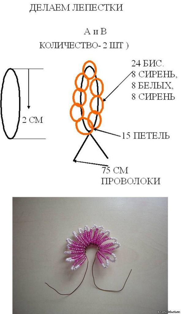 Блог.ру - lenagoland - хризантема из бисера 2.